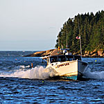Maine Seascape Photography�Lobster Boat