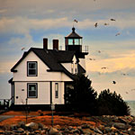 Maine Nature Photography�Lighthouse Scene